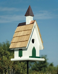 Country Wildwood Church Bird House