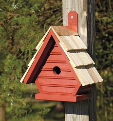 Chick Shake Shingle Birdhouse Redwood