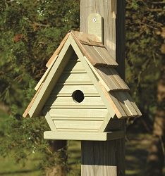 Chick Shake Shingle Birdhouse Celery