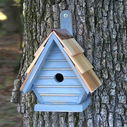 Chick Shake Shingle Birdhouse Blueberry