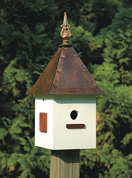 Songbird Suite Bird House White PVC