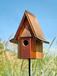 Mahogany Chateau Bird House