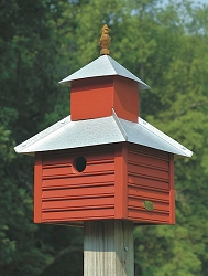 Rusty Rooster Bird House Redwood