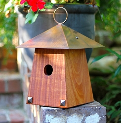 Avian Bungalow Bird House Mahogany