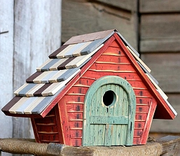 Prairie Home Birdhouse Redwood