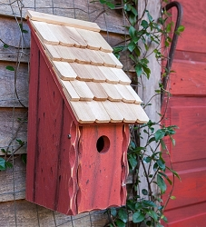 Bluebird Bunkhouse Birdhouse Redwood