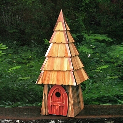 Lord of the Wing Birdhouse Redwood