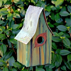 Shady Shed Birdhouse Green