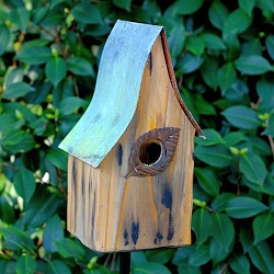 Shady Shed Birdhouse Natural