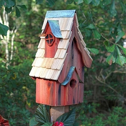 Boyds' Bungalow Birdhouse Redwood