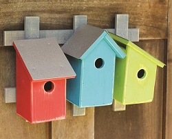 Trellis Trio Bird House Neon