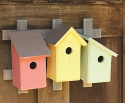Trellis Trio Bird House Pastel