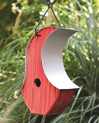 Mod Pod Bird House Red