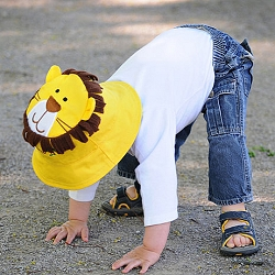 Luvali Kids' Reversible Sun Hat Monkey/Lion