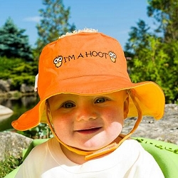 Luvali Kids' Reversible Sun Hat Bird/Owl