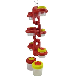 Triple Link Nectar Dots Hummingbird Feeder Red/Yellow