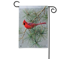 Winter Red Bird Garden Flag