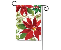 Pretty Poinsettia Garden Flag