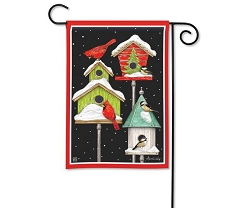 Winter Home Garden Flag