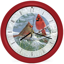 Winter Light Cardinal Sound Clock 8