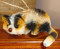 Brushkins Lazy Calico Cat Ornament