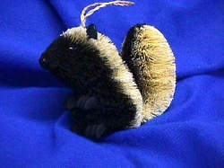 Brushkins Skunk Ornament
