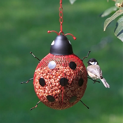 NO/NO Ladybug Mesh Bird Feeder Set of 2