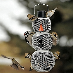 NO/NO Snow Man Bird Feeder