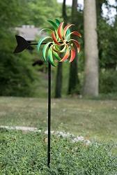 Spiral Multicolored Kinetic Art Windmill