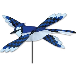 Blue Jay Whirligig Wind Spinner Small