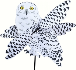 Snowy Owl Whirligig Wind Spinner Large
