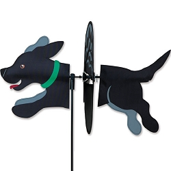 Petite Black Lab Wind Spinner