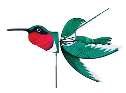 Flying Ruby Throated Hummingbird Wind Spinner Medium