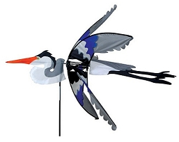 Flying Blue Heron Wind Spinner Large