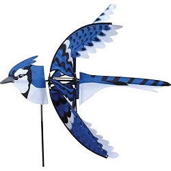 Flying Eastern Blue Jay Wind Spinner Large