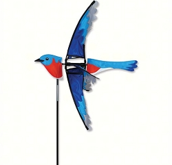 Flying Bluebird Wind Spinner Large