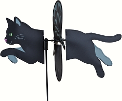 Petite Black Cat Wind Spinner