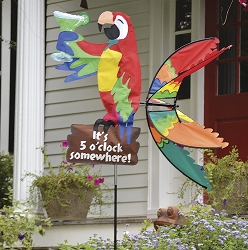 Island Parrot Wind Spinner Large 37