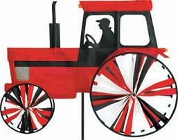 Modern Farm Tractor Spinner Medium Red