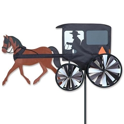 Horse and Buggy Wind Spinner