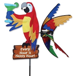 Island Parrot Wind Spinner Large 33
