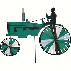 Old Farm Tractor Spinner Large Green