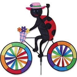 Ladybug Bicycle Wind Spinner Large