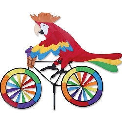 Parrot Bicycle Wind Spinner Large