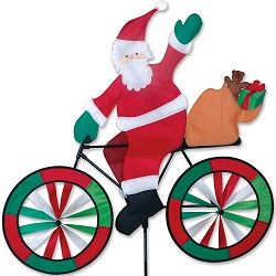 Santa Bicycle Wind Spinner Large