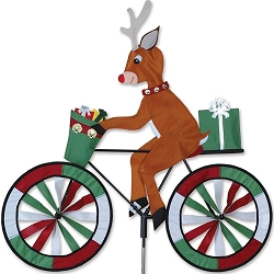 Reindeer Bicycle Wind Spinner Large