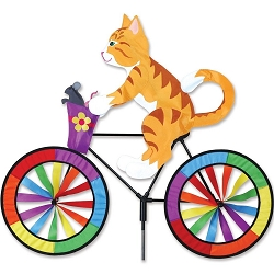 Kitty Bicycle Wind Spinner Large