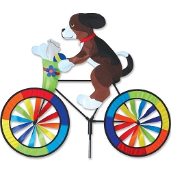 Puppy Bicycle Wind Spinner Large