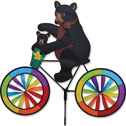 Black Bear Bicycle Wind Spinner Large