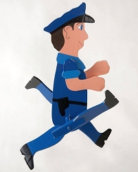 Classic Character Whirligig Policeman